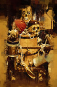 Buccaneer Painting Prints - Pirates Loot Print by Clarence Alford