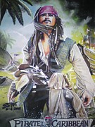 George Harrison Painting Originals - Pirates Of The Caribbean On Strangers Tides by Sandeep Kumar Sahota