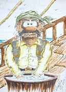 Pirates Mixed Media Prints - Pirates of the river Lagan 2 Print by Paul Chestnutt