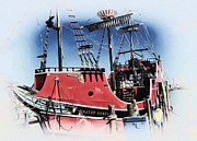 Pirate Ship Prints - Pirates Ransom - Clearwater Florida Print by Bill Cannon