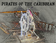 Pirates Of Caribbean Prints - Pirates Skeleton Print by David Lee Thompson