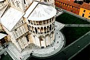 Leaning Building Framed Prints - Pisa from Above Framed Print by Linda  Parker