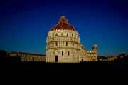 Pisa Posters - Pisa tower and baptistery cathedral Poster by Mats Silvan