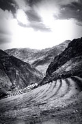 Grey Clouds Prints - Pisac Fields Print by Stuart Deacon