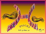 Pisces Digital Art - Pisces by Alice Terrill
