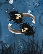 Pisces Print by Charlene Zatloukal