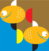 Two Fish Digital Art - Pisces The Fish by Venki