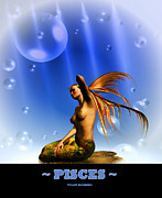 Pisces Digital Art - Pisces by Tyler Robbins