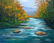 Smokey Mountains Paintings - Pisgah Forest 1 by Sandy Hemmer