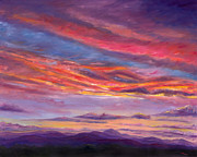 Asheville Painting Posters - Pisgah Sunset Poster by Jeff Pittman