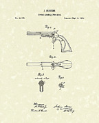 Weapon Drawings Posters - Pistol 1864 Patent Art  Poster by Prior Art Design