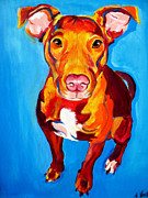 Dawgart Prints - Pit Bull - Chino Print by Alicia VanNoy Call