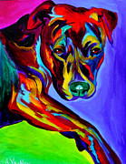 Bull Terrier Paintings - Pit Bull - Gaze by Alicia VanNoy Call