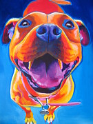 Tongue Painting Originals - Pit Bull - Lots to Love by Alicia VanNoy Call