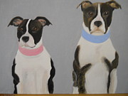 Puppies Originals - Pit Bull Pair by Joette Watson