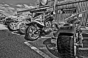 Motor Photo Metal Prints - Pit Stop Metal Print by Ches Black