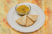 Pita With Brocoli Dip Print by Andee Photography