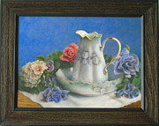 Old Pitcher Painting Originals - Pitcher And Basin by Eleanor Mcintosh