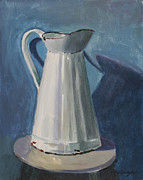 Old Pitcher Painting Prints - Pitcher Print by Nancy Rodger