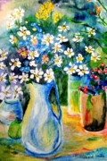 Pitchers Painting Prints - Pitcher of Daisies Print by Jamie Frier