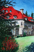 Kerri Ligatich Prints - Pittock Mansion - Portland Oregon Print by Kerri Ligatich