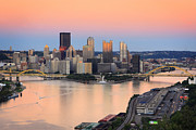 Pittsburgh Skyline.  Framed Prints - Pittsburgh 16 Framed Print by Emmanuel Panagiotakis
