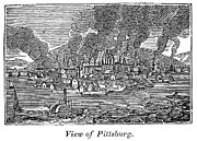 Pittsburgh Framed Prints - Pittsburgh, 1836 Framed Print by Granger
