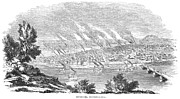 Pittsburgh Framed Prints - Pittsburgh, 1855 Framed Print by Granger