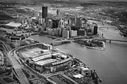 Pittsburgh Skyline. Framed Prints - Pittsburgh 9 Framed Print by Emmanuel Panagiotakis
