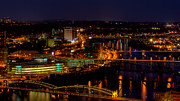 Monongahela River Framed Prints - Pittsburgh from across the Monongahela River Framed Print by David Hahn