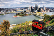 Duquesne Incline Metal Prints - Pittsburgh from Incline Metal Print by Michelle Joseph-Long