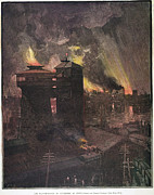 Pittsburgh: Furnaces, 1885 Print by Granger