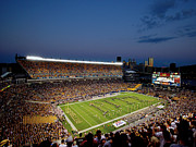 Night Game Framed Prints - Pittsburgh Heinz Field At Dusk Framed Print by Will Babin