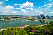 Allegheny River Posters - Pittsburgh Poster by Ida C. Shum
