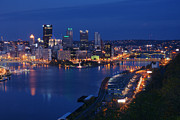 Cities Photography - Pittsburgh in Blue by Michelle Joseph-Long