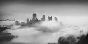 Snow Fall Framed Prints - Pittsburgh Pano 8 Framed Print by Emmanuel Panagiotakis