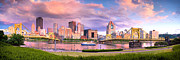 Pittsburgh Pirates Prints - Pittsburgh Panorama north side  Print by Emmanuel Panagiotakis
