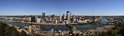 Steel City Framed Prints - Pittsburgh Panoramic Framed Print by Teresa Mucha