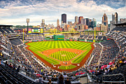 Pittsburgh Skyline. Framed Prints - Pittsburgh Pirates  Framed Print by Emmanuel Panagiotakis