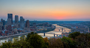 Allegheny County Prints - Pittsburgh Pre-Dawn Print by David Hahn