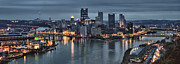 Pittsburgh Skyline.  Framed Prints - Pittsburgh Skyline 2 Framed Print by Wade Aiken