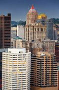 Pittsburgh Prints - Pittsburgh skyline Print by Emmanuel Panagiotakis