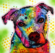 Dog Art Painting Metal Prints - Pity Pitbull Metal Print by Dean Russo