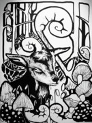 Goat Painting Originals - Pixie by Fauna Graphic
