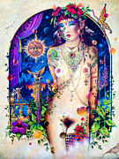 Hallucination Painting Prints - Pixie Queen Print by Keith Stillwagon