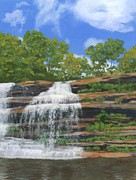 Waterfalls Painting Framed Prints - Pixley Falls Framed Print by Lynne Reichhart