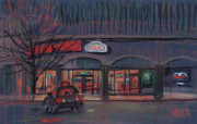 John Pastels - Pizza Delivery by Donald Maier