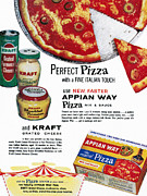Dough Framed Prints - Pizza Mix Ad, 1960 Framed Print by Granger