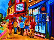 Pizza To Go Print by Carole Spandau