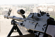 Baghdad Framed Prints - Pkm 7.62 Machine Gun Nest On Top Framed Print by Terry Moore